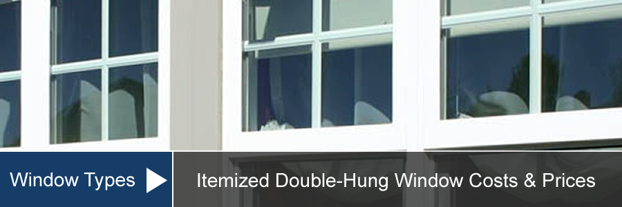 Double Hung Window Cost For Install Replacement