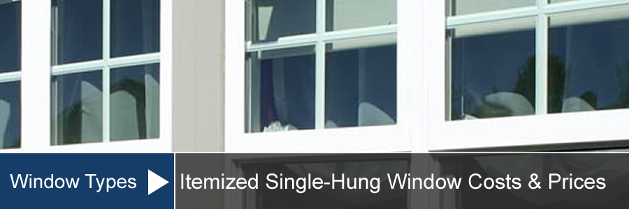 Single Hung Window Cost For Install Replacement