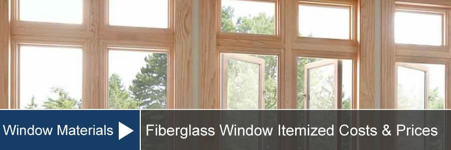 fiberglass windows cost