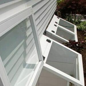 Basement eGress Window Covers